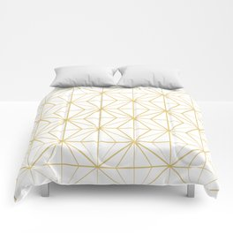 Geometric Golden Pattern Comforters