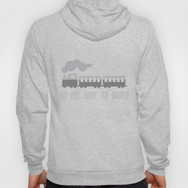 On My Way To Work - Commuter Retro Steam Train Hoody