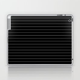 Black White Pinstripe Minimalist Laptop & iPad Skin