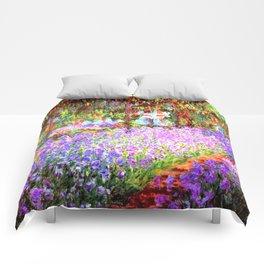 Monets Garden In Giverny Comforters