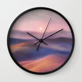 Minimal abstract landscape II Wall Clock