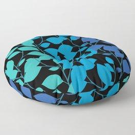 Cobalt Foliage Floor Pillow