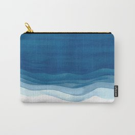 Watercolor blue waves Carry-All Pouch