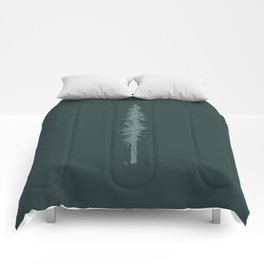 Love in the forest - green Comforters