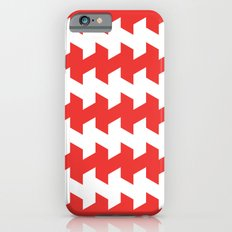 jaggered and staggered in poppy red Slim Case iPhone 6s
