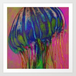 Electric Jellyfish Art Print