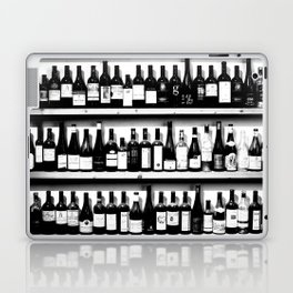Wine Bottles in Black And White #society6 #decor Laptop & iPad Skin