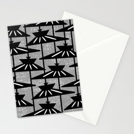 Mid Century Modern Pendant Lamp Composition Grey Stationery Cards