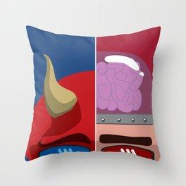 Evil & Genious Throw Pillow