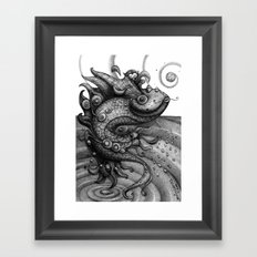 Miss Fish Framed Art Print