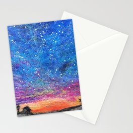 Needle Felt Colorful Sky Stationery Cards