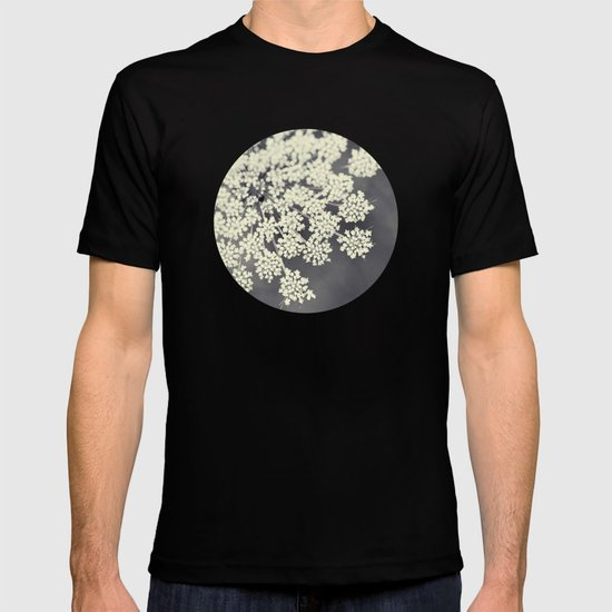 Black and White Queen Annes Lace T-shirt