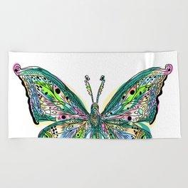 Fly Butterfly Beach Towel