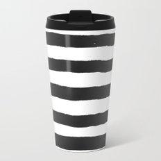 Black paint stripes Travel Mug