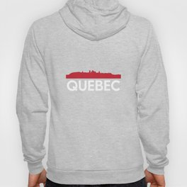 Quebec Skyline French Speaking Province Canada Hoody