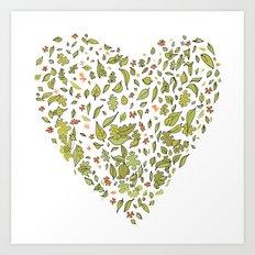 Nature heart Art Print