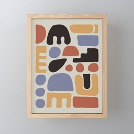 Shapes & Colors Framed Mini Art Print