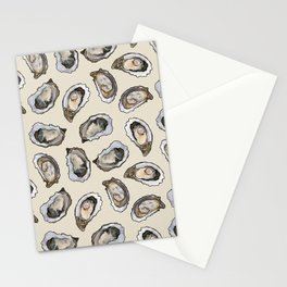 Oysters by the Dozen in Cream Stationery Cards