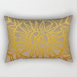 Aztec Sun Tribal Design 3 Rectangular Pillow