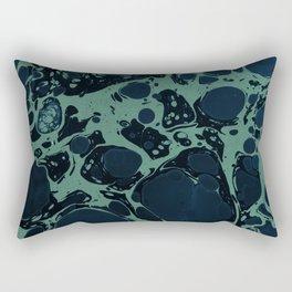 Turquoise Splash Rectangular Pillow