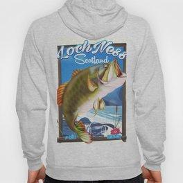 Loch Ness Scotland Fishing travel poster Hoody