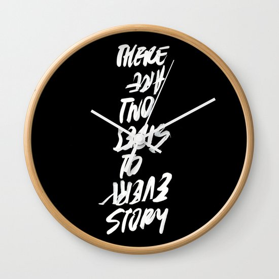 TWO SIDES Wall Clock
