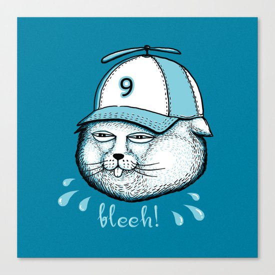 I have 9 lives, so Bleeh! Canvas Print