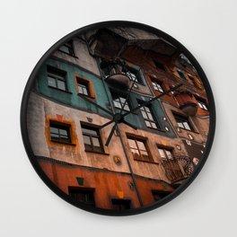 Hundertwasser museum Wall Clock