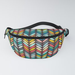 llama leaf arrow chevron dark Fanny Pack