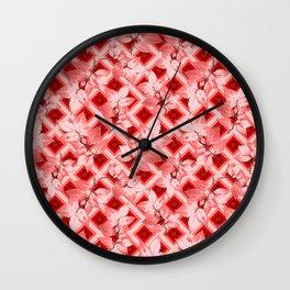 Pink Op Art Autumn Wall Clock