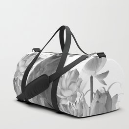Weimaraner Dog Lotos Flowers - Black & White #society6 #lotos Duffle Bag