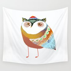The Sweet Owl Wall Tapestry