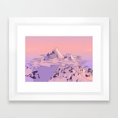 Peach Sunset Framed Art Print