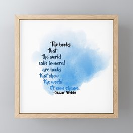 Immoral Books | Oscar Wilde Framed Mini Art Print