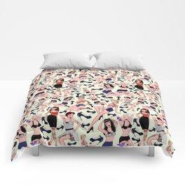 Rockabilly girls pin-up Comforters