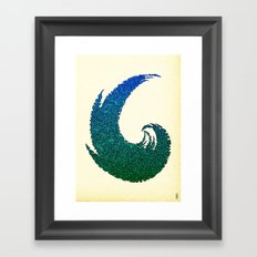 - summer wave - Framed Art Print