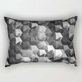as the curtain falls (monochrome series) Rectangular Pillow