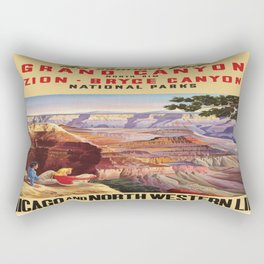 Vintage poster - Grand Canyon Rectangular Pillow