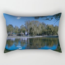 Castle lake Rectangular Pillow