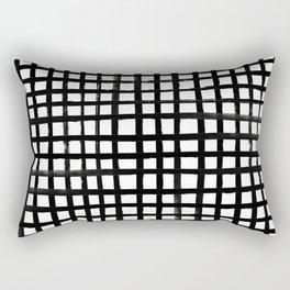 Hand-painted Grid Rectangular Pillow