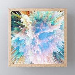 Pastel Stalagmites Colliding in Space Cave Framed Mini Art Print