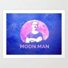Moon Man Art Print