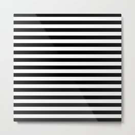 Abstract Black and White Stripe Lines 15 Metal Print