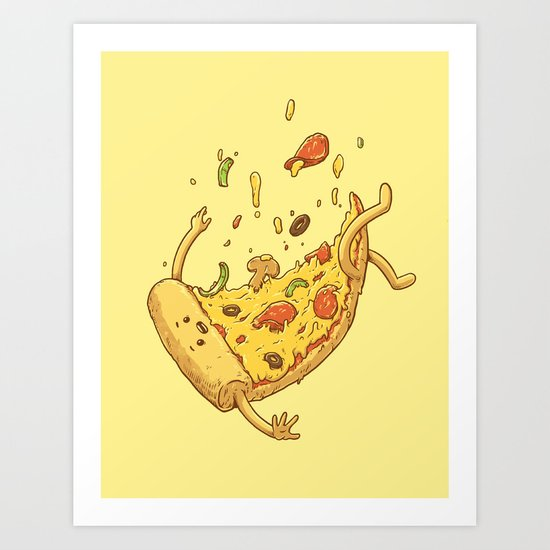 Pizza fall Art Print