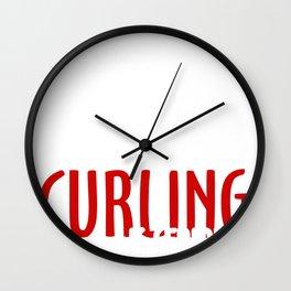 curling curling winter sports gift idea Wall Clock