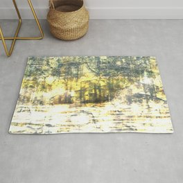 Loving the Waves series - Yellow 2 Rug