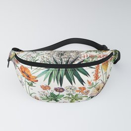 Adolphe Millot - Fleurs B - French vintage poster Fanny Pack