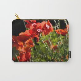 Red Poppies in France Carry-All Pouch