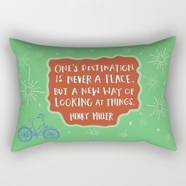 A New Way of Looking At Things Rectangular Pillow