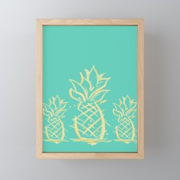 Maui pineapple trio Framed Mini Art Print